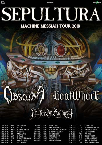 Obscura Goatwhore Fit For An Autopsy support to Sepultura
